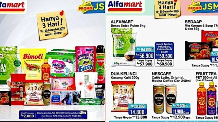 Promo JSM Alfamart Hari ini Dapatkan Diskon Mulai dari Beras, Minyak 2L, Popok, Snack, Mi Instan