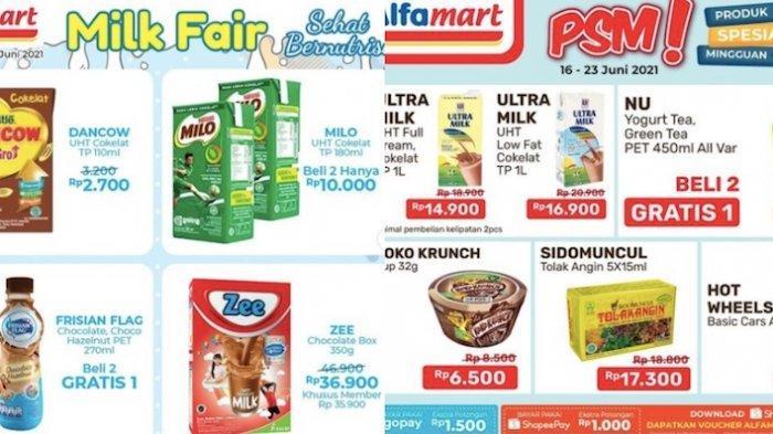 Katalog Promo Alfamart Sabtu 19 Juni, Ada PSM, JSM diskon Susu, Snack, Minuman, Kecap dll