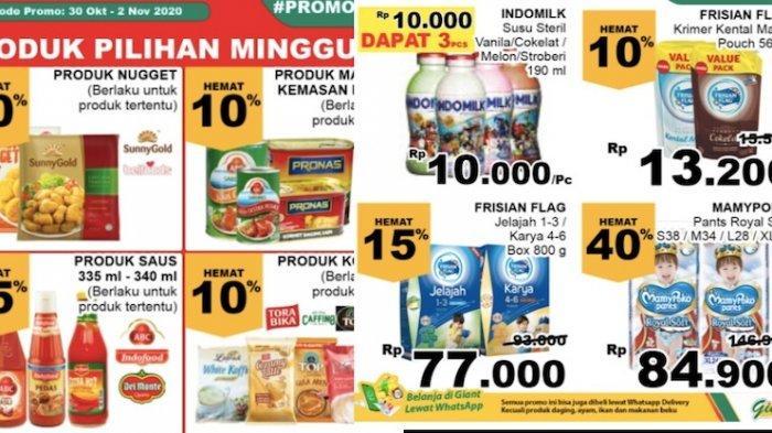 Katalog Promo Giant 1 2 November Diskon 10 45 Persen Mulai Dari Sayur Buah Ayam Segar Warta Kota
