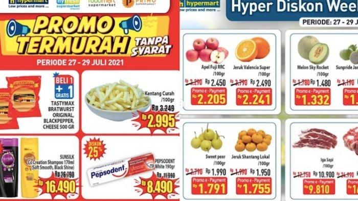 KATALOG PROMO Hypermart 27-29 Juli Dapatkan Diskon Aneka Kebutuhan : Buah, Daging, Susu dll