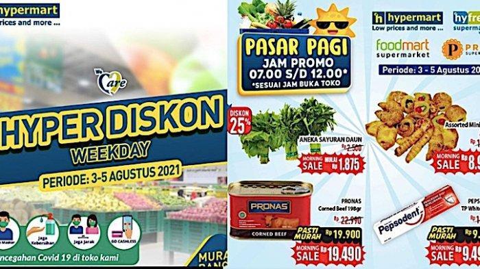 KATALOG Promo Hypermart 3-5 Agustus, Diskon Sayuran, Buah, Daging, Minyak Goreng, Snack