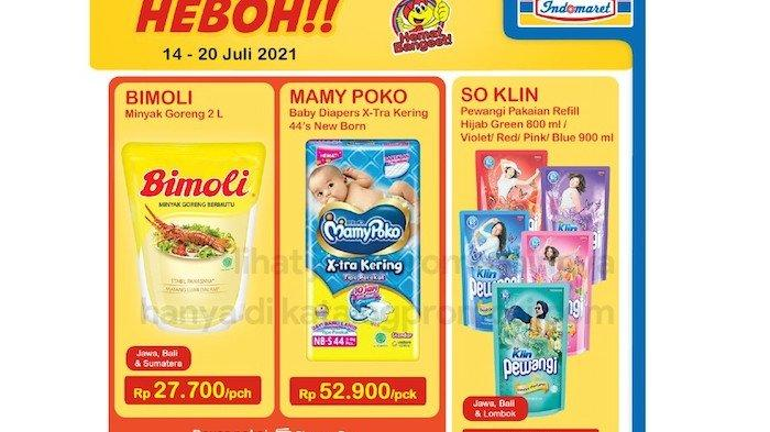 Promo Indomaret Kamis 15 Juli, Dapatkan Diskon Bimoli Minyak Goreng, Mamy Poko, Frisian Flag dll