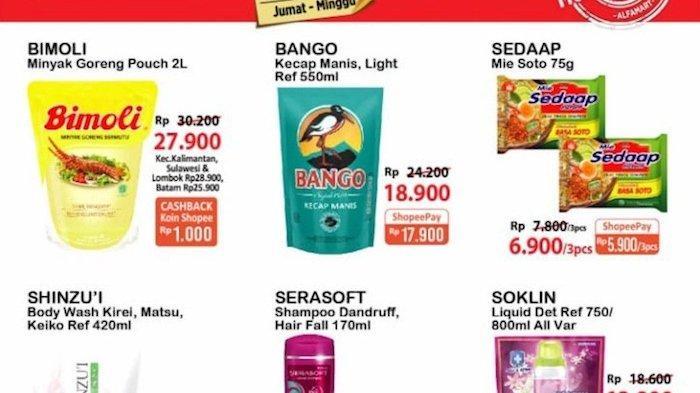 KATALOG Promo JSM Alfamart 18-20 Juni, Hemat Minyak 2L, Mi Instan, Sania Beras, Susu, Snack