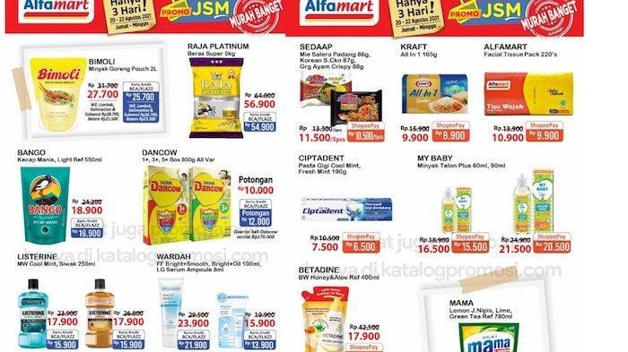 Katalog Promo JSM Alfamart 20-22 Agustus, Diskon Beras, Minyak, Perlengkapan Mandi, Dancow dll