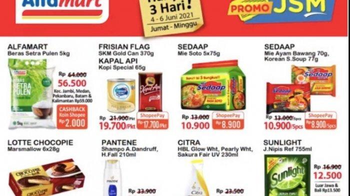 Promo JSM Alfamart 4-6 Juni Dapatkan Harga Hemat dari Popok, Beras, Minyak, Susu, Aneka Snack