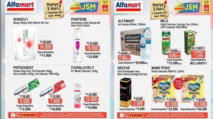 Katalog Promo Jsm Alfamart 6 8 November Harga Murah Beras Pulen Susu Cair Sampai Deterjen Warta Kota