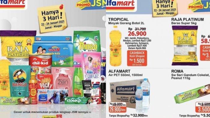 KATALOG Promo JSM Alfamart Jumat 22 Januari Diskon Beras, Minyak, Perlengkapan Mandi