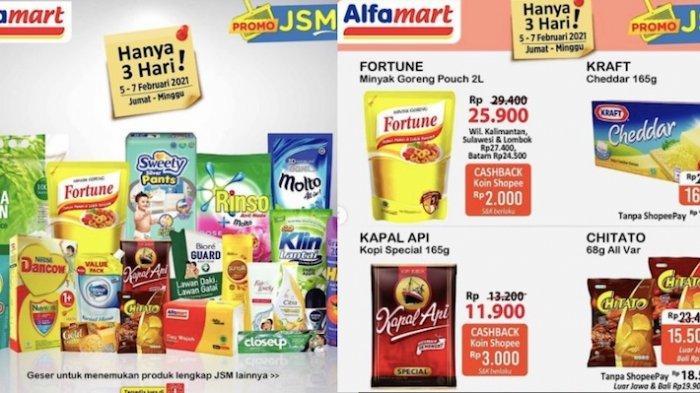 Katalog Promo JSM Alfamart 5-7 Februari Diskon Minyak Goreng 2L, Beras, Susu Kental Manis
