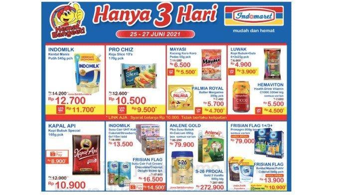 Katalog Promo JSM Indomaret 25-27 Juni Diskon Minyak Tropical, Beras 5 Kg, Tepung Sania, Indomie