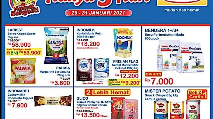 Katalog Promo JSM Indomaret 29-31 Januari Diskon Beras 5Kg, Obat Nyamuk, Susu Anak, Minyak 2L