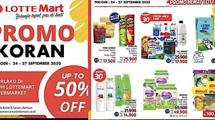 KATALOG Promo Lottemart Retail Minggu 27 September Diskon Hingga 50 Persen dan 60 Persen Beuty Fair