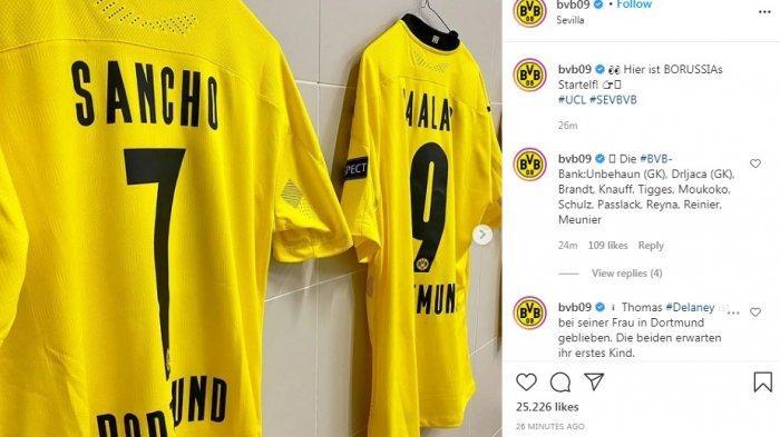 Starting XI dan Live Streaming Sevilla vs Borussia Dortmund, Tuan Rumah Awasi Sancho dan Halland
