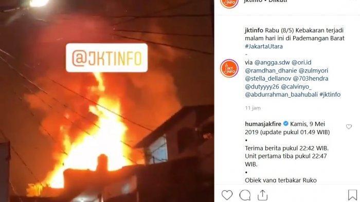 Konveksi Garmen di Pademangan Hangus Terbakar