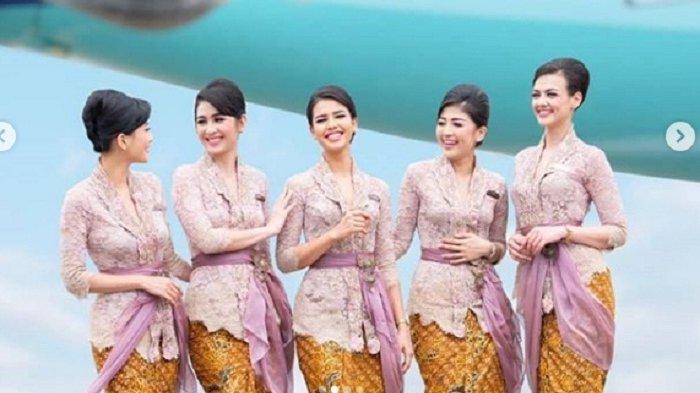 Tampil Beda, Kini Pramugari Garuda Pakai Seragam Baru Kebaya Rancangan Anne Avantie