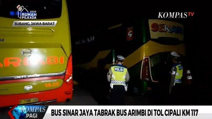 Inilah Foto-foto Kecelakaan Maut di Tol Cipali Bus Sinar Jaya dan Arimbi yang Tewaskan 7 Orang