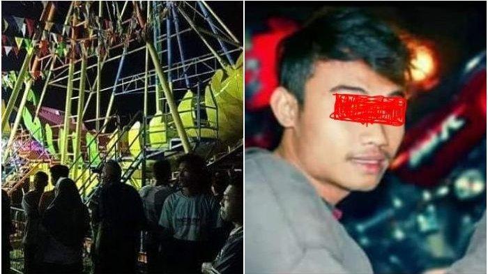 Kecelakaan Wahana Kora-kora yang Tiba-tiba Ambruk di Pasar Malam, 4 Orang Terlempar, 1 Tewas