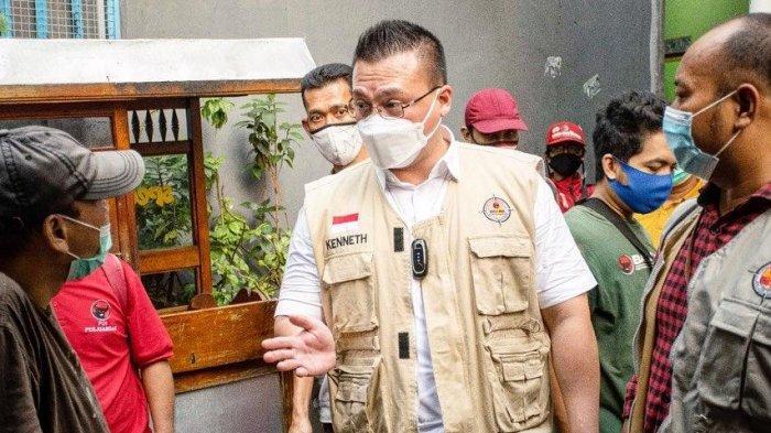Baguna DPD PDIP DKI Dirikan Posko dan Dapur Umum di Lokasi Kebakaran Keagungan Taman Sari