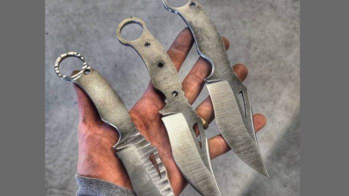 Penampakan senjata tajam jenis kerambit