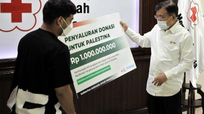 Jusuf Kalla Kirimkan Donasi PMI dari Rakyat Indonesia Sebesar Rp1 Miliar untuk Palestina