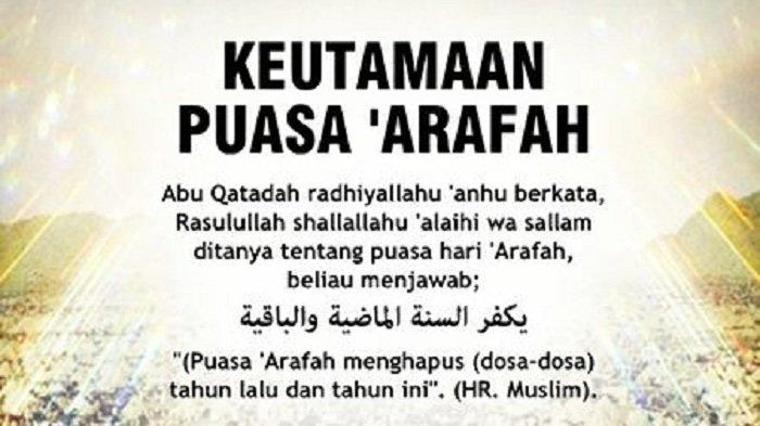 Bacaan Niat Puasa Arafah Besok, 30 Juli 2020, Menjelang Idul Adha, dan Keutamaannya