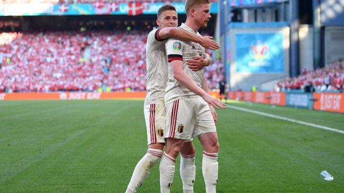 Kalahkan Denmark 2-1, Belgia Lolos 16 Besar, De Buyne Trending Topic, Lukaku Pemain Terbaik