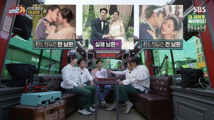 Aktor Lee Sang Woo saat mengisi acara bincang-bincang di Tiki TaCAR yang menceritakan kehidupan rumah tangganya bersama aktris Kim So Yeon.