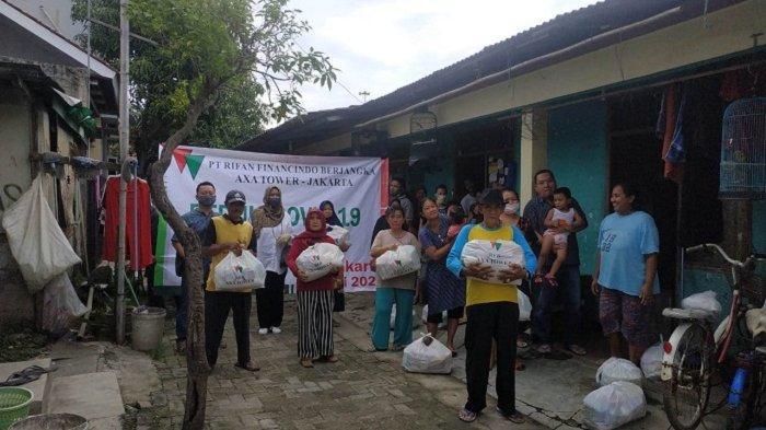 Raih Kinerja Positif di Triwulan I, RFB AXA Tower Kembali Bergerak Salurkan 1.000 Paket Sembako