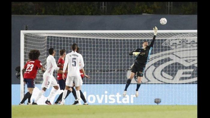 Hasil Babak Pertama Real Madrid vs Osasuna 0-0, Kiper Sergio Herrera Bikin Eden Hazard Dkk Mandul