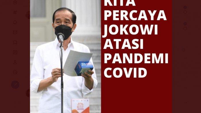 Kita Percaya Jokowi Trending, 86 Juta Pendukung Siap Hadapi Kelompok yang Ingin Melengserkannya