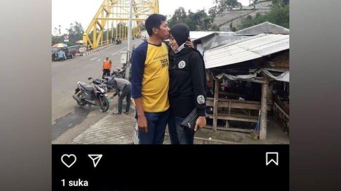 Foto Kiwil sedang mencium kening Venti Figianti beredar di media sosial, Sabtu (6/2/2021) malam, atau tiga hari setelah cerai dari Rohimah di Pengadilan Agama Jakarta Selatan, Rabu (3/2/2021).