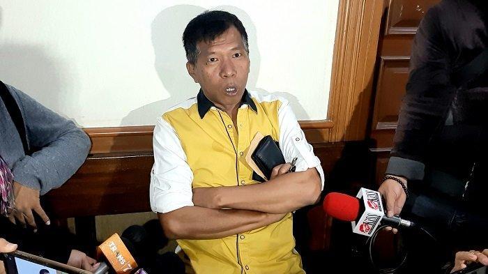 Pelawak Kiwil di Pengadilan Agama Jakarta Selatan, Rabu (20/1/2021).