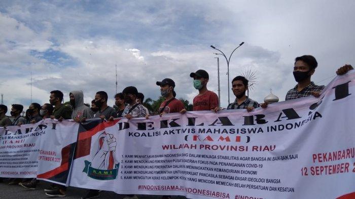 Koalisi Aktivis Mahasiswa Indonesia Deklarasi di Riau, Minta Pemerintah Fokus Penanganan COVID-19