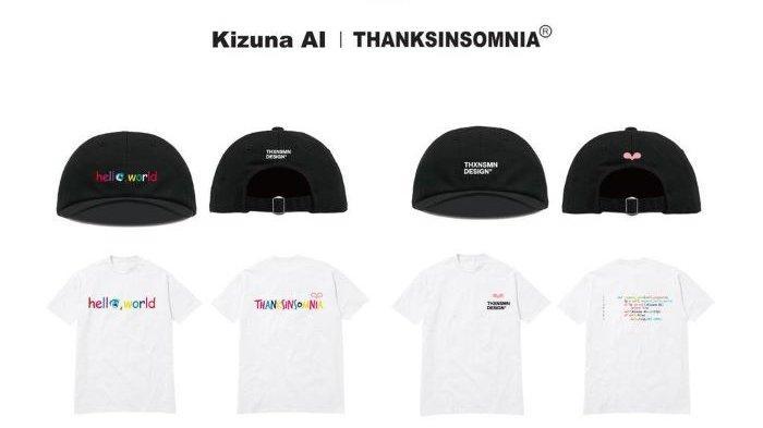 Thanksinsomnia, label streetwear asal Indonesia, berkolaborasi dengan Ai Kizuna, V-tuber pertama di dunia asal Jepang yang juga YouTuber Virtual Idol.
