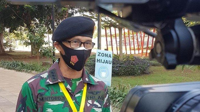 Kepala Humas Rumah Sakit Darurat Covid-19 (RSDC) Wisma Atlet Kemayoran Kolonel Mintoro Sumego, saat ditemui di halaman RSDC Wisma Atlet, Selasa (27/7/2021) siang.
