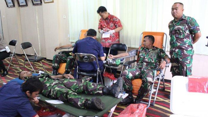 Komandan Puslatsus Ikut Donor Darah Dalam Rangka Hut Kota Pasuruan Ke 334