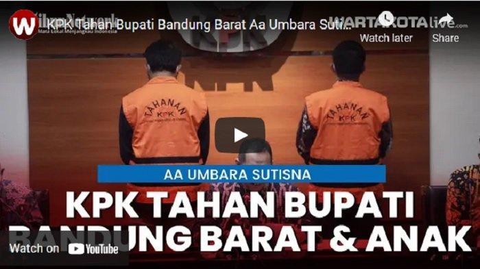 KPK Rampungkan Penyidikan, Aa Umbara Segera Disidangkan