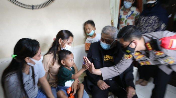 Kapolresta Tangerang Dampingi Ketua Komnas PA Kunjungi Balita Korban Penganiayaan