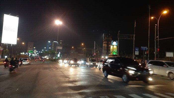 Arus Lalu Lintas di Jalan Raya Margonda Depok Menuju Citayam Malam Ini Ramai Lancar