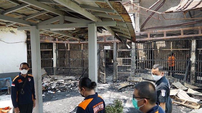 Kondisi Lapas Kelas I Tangerang, Banten yang terbakar Rabu (8/9/2021).