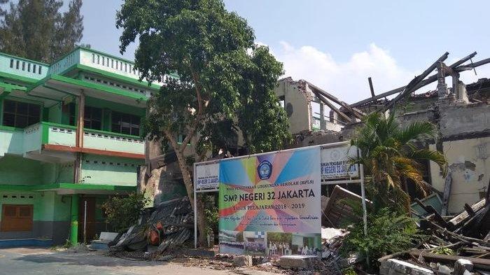 Gedung Aula SMPN 32 Jakarta Tidak Kunjung Dipugar, Dinas Pendidikan DKI Jakarta Belum Merespon