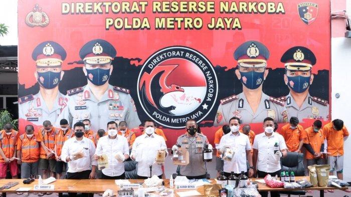 Polda Metro Jaya Ungkap Rumah Produksi Tembakau Sintetis Jaringan Napi Lapas di Ibu Kota