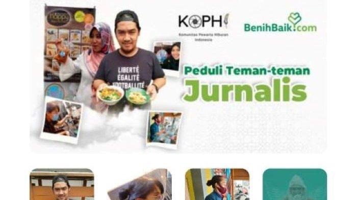 Bantu Wartawan Terdampak Pandemi, Komunitas Pewarta Hiburan Indonesia dan BenihBaik Galang Dana