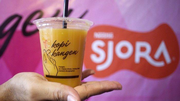 Kolaborasi terbaru Kopi Kangen dengan Sjola Nestle dengan meluncurkan Kangen Enjel dan Kangen Mahmud.