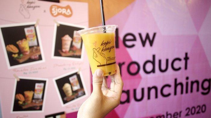Kolaborasi terbaru Kopi Kangen dengan Sjola Nestle saat meluncurkan varian Kangen Enjel dan Kangen Mahmud.
