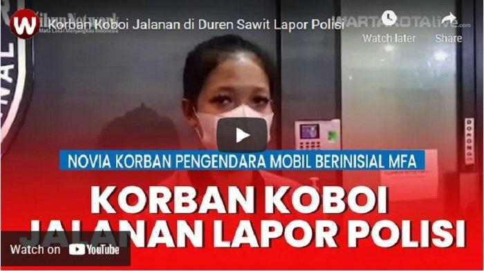 VIDEO Korban Koboi Jalanan di Duren Sawit Lapor Polisi
