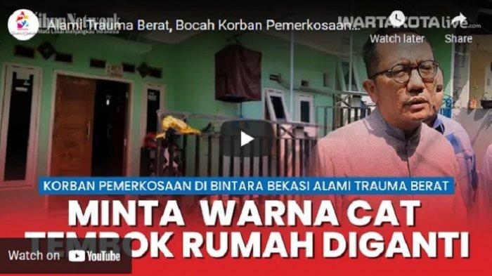 VIDEO Alami Trauma Berat, Bocah yang Dirudapaksa di Bintara Minta Warna Cat Rumahnya Diganti