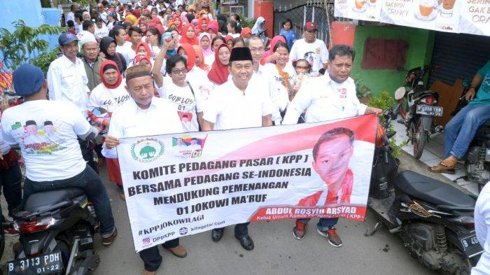 Pedagang Pasar Sebut Sudah Kampanyekan Jokowi Maruf dari Pintu ke Pintu