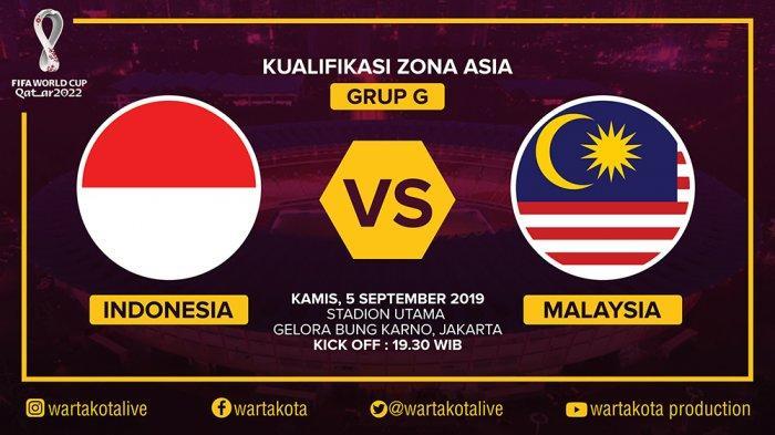 Live Streaming TVRI dan Live Score Laga Timnas Indonesia vs Malaysia, Kick Off Pukul 19.30 WIB
