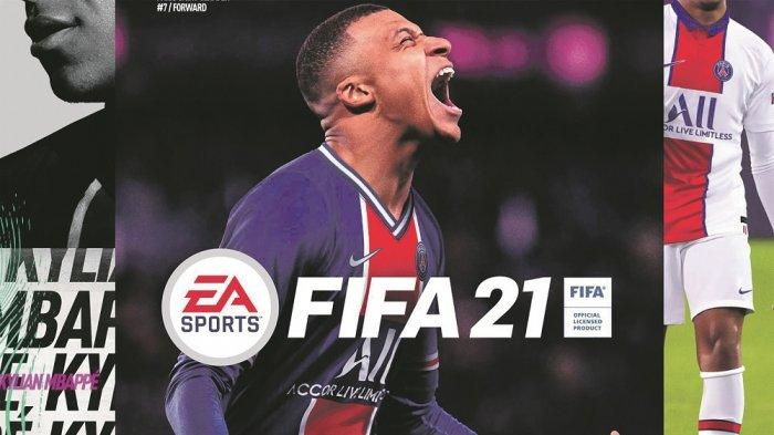 Sosok striker Paris Saint-Germain, Kylian Mbappe, jadi cover video game FIFA 21.