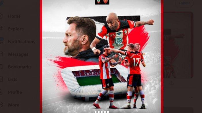 Live Streaming Liga Inggris Southampton Vs Arsenal di Mola TV, Ini Susunan Pemainnya